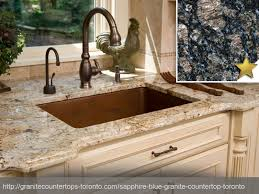 sapphire blue granite countertop design idea