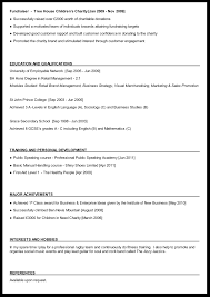 Best Hobbies Interests Curriculum Vitae Contemporary Entry Level