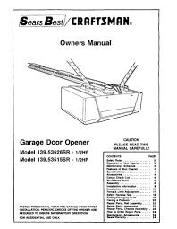 Garage Door Opener Wiring Craftsman - WIRE Center •