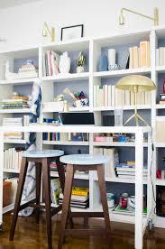 standing desk office. Modern Standing Desk Home Office With Bookshelves On @thouswellblog G