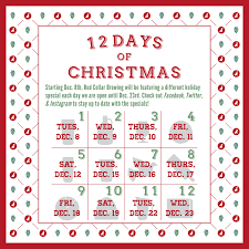 The 12 Days of Christmas at RCB | Red Collar Brewing Company