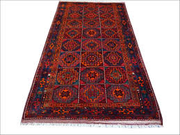 vintage persian rug kordi ferdoz 1950s dark red blue turqoise orange pink