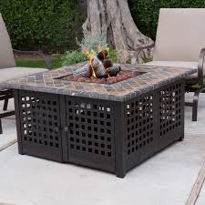 square propane fire pit table hayneedle
