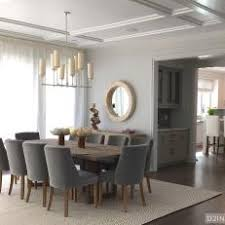 bright ideas gray upholstered dining chairs 23 dining room