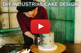 diy industrial wedding cake design