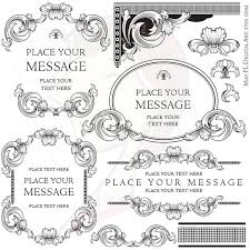 antique frame border png. Classic Clipart Vintage Wedding #3 Antique Frame Border Png E