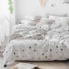 fashion polka dot single double bedding set teen boy twin full queen king cotton home textile flat sheet pillow case quilt cover best bedding sets queen