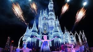 Frozen Holiday Wish Castle Lighting Show Frozen Live A Frozen Holiday Wish Walt Disney World Magic Kingdom