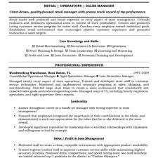 Assistant Manager Resume Retail Job Description Examples Throughout