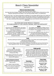 Class Newsletter Class Newsletters April 2017 Spixworth Infant School