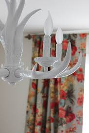 white antler chandelier the rest of the nursery