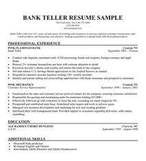 ... Ideas of Teller Sample Resume With Job Summary ...