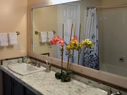 to build a frame around a bathroom mirror