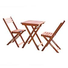 com vifah v1381 outdoor wood folding bistro set with square table and two chairs garden outdoor