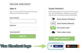 the visa checkout logo at checkout