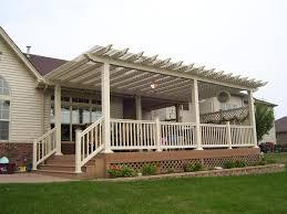 pergola on house. deck shade pergola on house