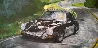 Не рисуйте машины drive Под этим Порше моя дипломная работа пейзаж Никогда не любила особо пейзажи а потому замазала его черной краской и сделала то что мне нравится