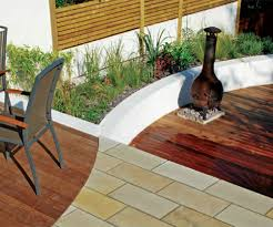 small garden look bigger with pavers