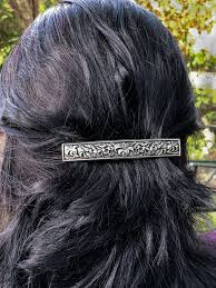 Oberon Design Hair Clips Hair Clip Barrette Lily 100mm