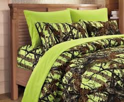 comforter sheets camouflage neon