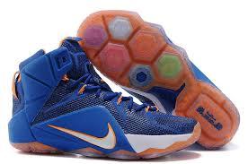 nike shoes air force blue. summer season nnp-\u002679 nike casual shoes lebron 12 p.s elite navy blue white orange air force
