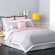 pink and grey bedspread amazing new twin comforter set bed bag pink gray white geometric in