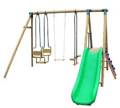 airking climb and swing play set with slide two seat sky ride mini climbing