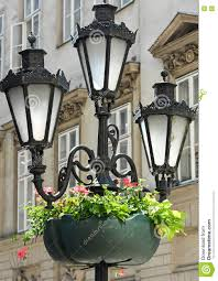 Old Fashioned Street Lights Old Fashioned Street Lights Stock Photo Image Of Three