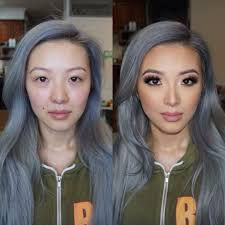 before after asian makeup
