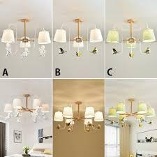 nordic style wood lamp arm hanging chandelier for bedroom living room indoor