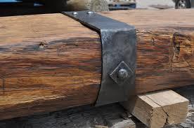 iron strapped fireplace mantel