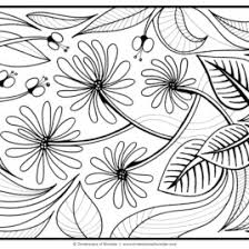 Printable Flower Coloring Pages For Adults All About Coloring Pages