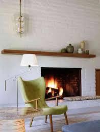 Brick Fireplace Mantel White Brick Fireplace With Wooden Mantle Decordigs Pinterest