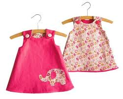 Baby Girl Dress Patterns Stunning Size 4848 MonthsReversible A Line Dress Pattern Toddler Dress