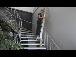 how to use a ladder on stairs safely and easily old version