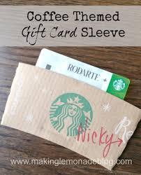 coffee themed gift card holder diy gift idea