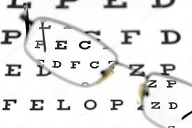 Blurry Eye Test Chart Eyeglasses And Eye Test Chart Stock Photo Buradaki 5659752