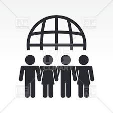 meeting free teamwork icon global people meeting royalty free vector clip art