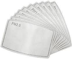 <b>50</b>/<b>100Pcs</b> Adult Activated Carbon <b>Mask</b> Filter Insert 5 Layers ...
