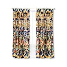 mudhut zaayan geo d curtain panel multi colored 30 liked on polyvore featuring home home decor window treatments curtains contemporary window