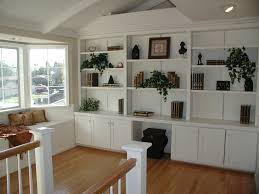 built in desk and bookcase