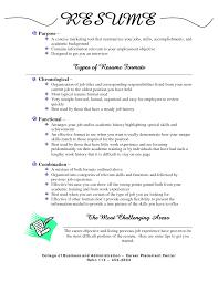 Different Types Of Resume Format Pdf 4 Infoe Link
