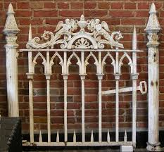 wrought iron fence victorian. Antique Architectural Salvage Victorian Cast Iron GARDEN FENCE 50\u201d Wide X 48\u201d Wrought Fence I