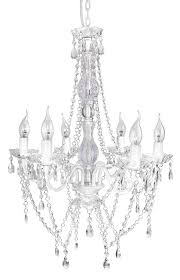 a2s gypsy crystal chandelier white 6 arm chandelier acrylic crystals solid iron design boho chic style white 6 arm