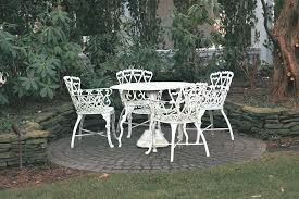 white metal outdoor furniture. Image Of: White Vintage Wrought Iron Patio Furniture Metal Outdoor