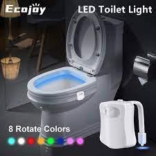 Coquimbo ghế ngồi vệ sinh đèn ngủ thông minh cảm biến chuyển động vệ sinh  nắp đèn cảm ứng sử dụng 2 * pin aa đèn nền cho vệ sinh ghế ngồi -