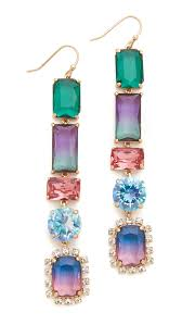 kate spade new york color crush linear earrings multi women accessories jewelry kate spade new