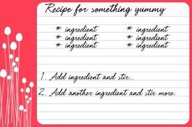 Free Recipe Card Templates Printable Template 5 X 8 For Mac Word