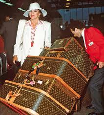 louis vuitton luggage celebrities. joan collins and louis vuitton luggage celebrities