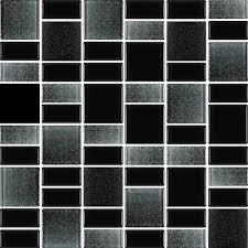 details about fusion black glass mosaic tiles backsplash bathroom tile squares rectangles